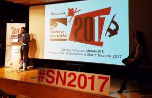 El consejero de Turismo y Deporte, Francisco Javier Fernández, durante la presentación en Madrid.
