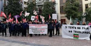 Concentración de protesta este viernes en la plaza del Carmen.