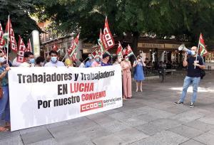 Protesta sindical este viernes en la plaza Bib-Rambla.