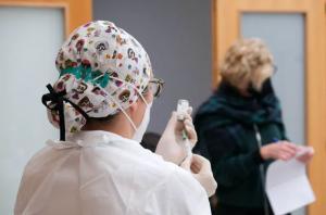 Vacunación en Vinaròs, Comunidad Valenciana.