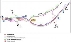 Mapa explicativo de cómo se reordenará la zona.