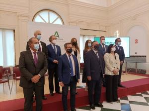 Equipo de delegados y delegadas de la Junta, este martes.
