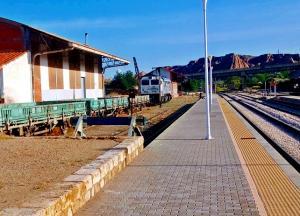 Estación de tren de Guadix, en proceso de desmantelación.