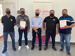 Representantes de Elite Granada y Málaga con UATAE.