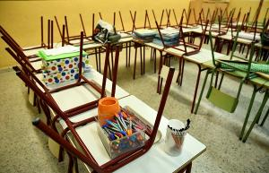 Imagen de archivo del interior de un aula recogida.
