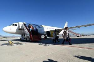 Imagen de archivo de un avión de Vueling en el aeropuerto granadino.