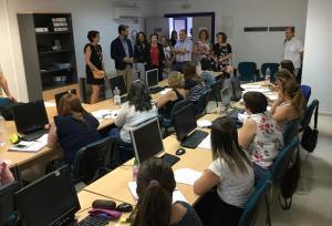 Visita al aula formativa en Huétor Tájar.