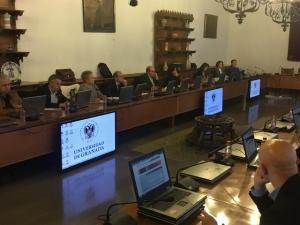 Reunión del Consejo Social de la Universidad.