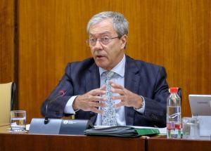 El consejero de Economía, Conocimiento, Empresas y Universidad, Rogelio Velasco.