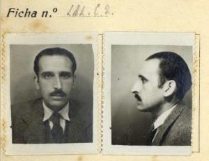 Imagen del catedrático de Física Teórica y Experimental de la UGR José Domingo Quílez extraída del expediente que la UAB le hizo en 1937