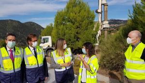Visita de la consejera Marifrán Carazo a la zona de las obras.