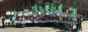 Imagen de archivo de una protesta del sindicato ante la sede de la Junta.