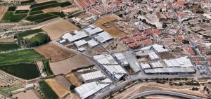 Imagen del polígono empresarial de Las Gabias y terrenos colindantes.