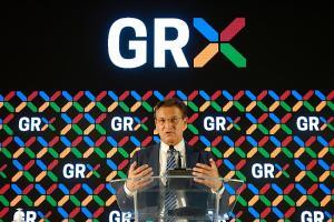 Luis Salvador, en la presentación de la nueva imagen de la marca Granada.
