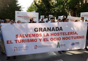 Manifestación este martes en Granada.