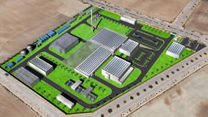 Recreación de las instalaciones sobre el Parque Metropolitano de Escúzar.