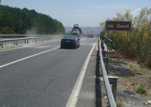 Carriles de la carretera de Santa Fe, sentido Granada, ya abiertos.