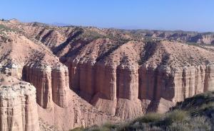 Los Coloraos de Gorafe, uno de los parajes más espectaculares del Geoparque.