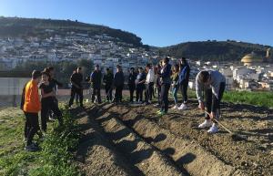 Prácticas en Montefrío del alumnado de FP de Producción Agropecuaria.