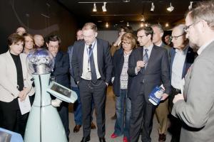 Inauguración de la muestra sobre robots.