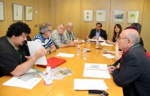 Entrena durante la reunión con los representantes de la Marea Amarilla.