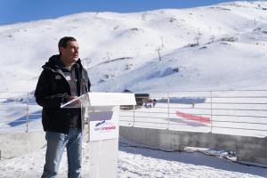 Moreno, en su visita a Sierra Nevada en diciembre.