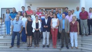 Autoridades de la Junta y de Moraleda de Zafayona.