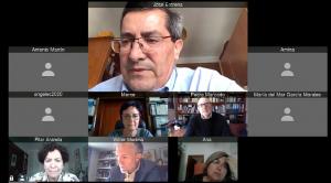 Videoconferencia entre responsables de ambas instituciones.
