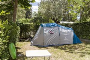 Una de las parcelas del camping.