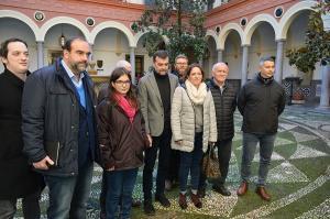 Antonio Maíllo ha encabezado la reunión de IU con la Marea Amarilla.
