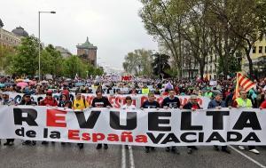 Imagen de archivo de la manifestación de la España Vaciada.