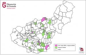 Mapa de la exclusión financiera de la provincia de Granada.
