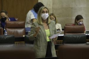 La consejera Marifrán Carazo en el Parlamento.
