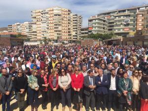 Imagen de la multitudinaria concentración este viernes en Motril.