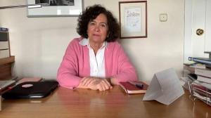 Pilar Aranda, en un conferencia telemática durante el estado de alarma.