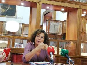 Pilar Aranda, este martes.