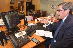 José Entrena durante la reunión.