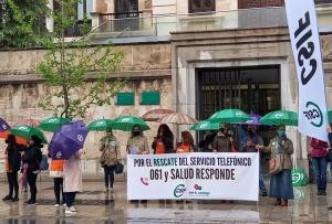 Concentración de CSIF para reclamar el rescate público del 061.