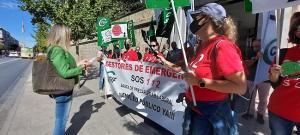 Protesta por la situación de la subcontrata del servicio 112.