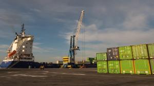 Instalaciones de mercancías del Puerto de Motril.