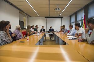 Reunión de cargos de Fomento con el alcalde de Lanjarón.