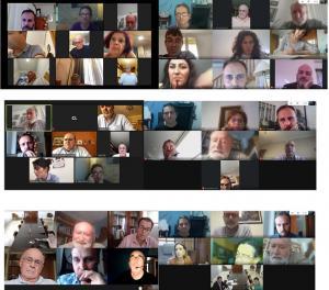 Imagen de las reuniones virtuales impulsadas por la plataforma.