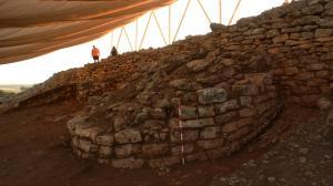 Torre documentada por la excavación.