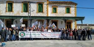 Imagen de archivo de una concentración en la estación de Baza.