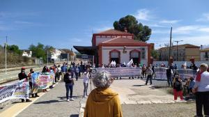 Concentración en la estación de Guadix.