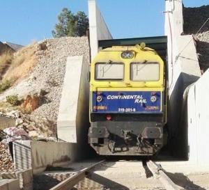 Imagen del túnel del AVE en Loja durante las obras.