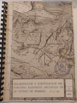 Proyecto que se elaboró para la delimitación del Conjunto Histórico de Granada.