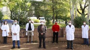 Equipo científico que ha realizado el trabajo, en la Facultad de Farmacia.