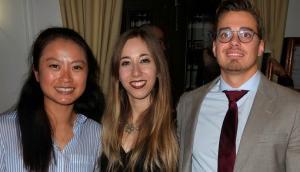 Los tres autores del trabajo: Huiwen Xu, Lourdes Ortiz Álvarez y Borja Martínez Téllez.