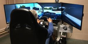 El simulador de conducción empleado en la investigación.